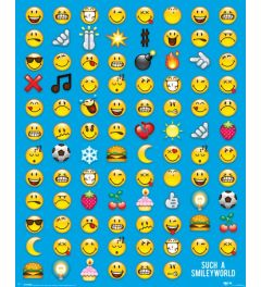 Smiley Emoticons Poster 40x50cm