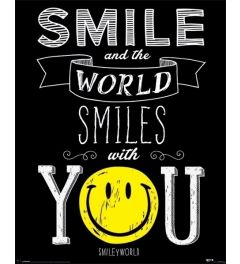 Smiley Poster World Smiles With You 40×50cm