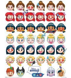 Disney Poster Emoji Princess Emotions 40x50cm