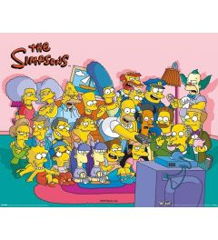 The Simpsons Poster Couch Group 40x50cm