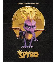 Spyro Golden Dragon Poster 40x50cm