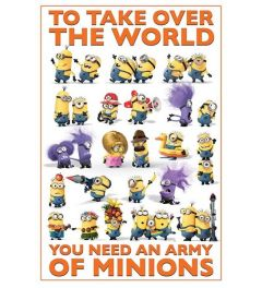 Despicable Me 2 Take Over The World Poster 61x91.5cm