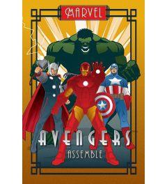 Marvel Retro Avengers Poster 61x91.5cm