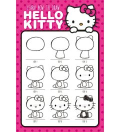 Hello Kitty Learn How To Draw Poster 61x91.5cm