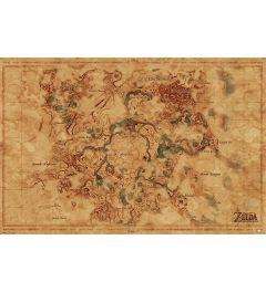 The Legend Of Zelda Breath Of The Wild Poster Hyrule World Map 61x91.5cm