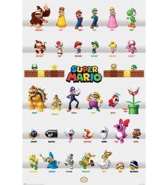 Super Mario Character Parade Poster 61x91.5cm