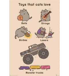 Pusheen Toys for Cats Poster 61x91.5cm