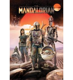 Star Wars The Mandalorian Group Poster 61x91.5cm