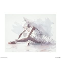 Ballet The beginning Art Print Aimee Del Valle 40x50cm