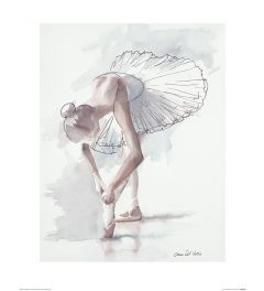 Ballet Stage fright Art Print Aimee Del Valle 40x50cm