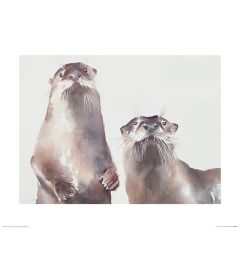 Two Otters Art Print Aimee Del Valle 40x50cm
