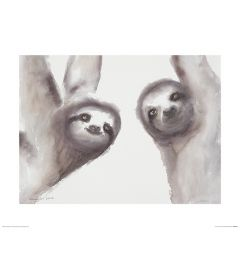 Two Sloths Art Print Aimee Del Valle 40x50cm