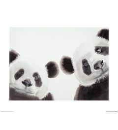 Two Giant Pandas Art Print Aimee Del Valle 40x50cm