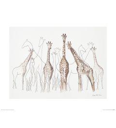 Giraffes Art Print Aimee Del Valle 40x50cm