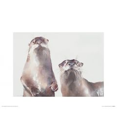 Two Otters Art Print Aimee Del Valle 30x40cm