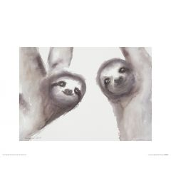 Two Sloths Art Print Aimee Del Valle 30x40cm