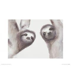 Two Sloths Art Print Aimee Del Valle 30x40cm