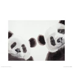 Two Giant Pandas Art Print Aimee Del Valle 30x40cm