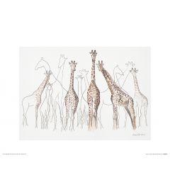 Giraffes Art Print Aimee Del Valle 30x40cm