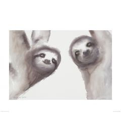 Two Sloths Art Print Aimee Del Valle 60x80cm