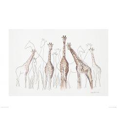 Giraffes Art Print Aimee Del Valle 60x80cm