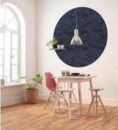 Royal Blue Self-adhesive Wallpaper Circle ⌀125cm