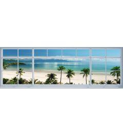 Beach Window Poster 158x53cm