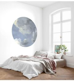 Simply Sky Self-adhesive Wallpaper Circle ⌀125cm