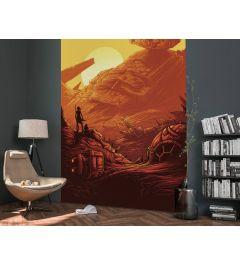Star Wars Jakku Star Destroyer 4-part Wall Mural 200x280cm