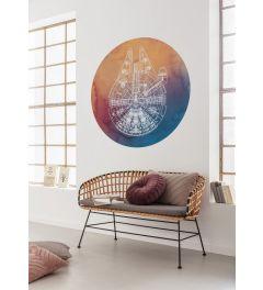 Star Wars Millennium Falcon Self-adhesive Wallpaper Circle ⌀125
