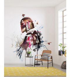 Star Wars Watercolor Boba Fett 5-part Wall Mural 250x280cm