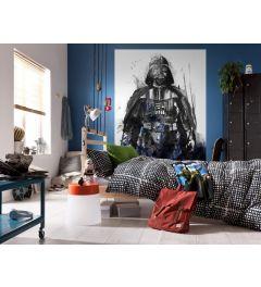 Star Wars Watercolor Vader 4-part Wall Mural 200x280cm