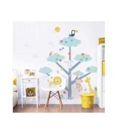 Tree with Wild Animals XXL Wall Sticker
