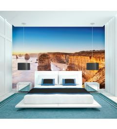 Cliff At Sunset In Australia 4-part Wall Mural 368x254cm