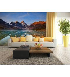 Magog Lake Canada 4-part Wall Mural 368x254cm