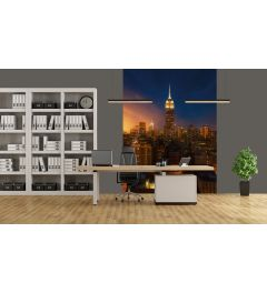 Empire State Building New York Wall Mural 2-parts 184x254cm