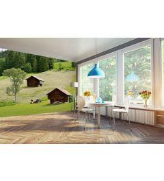 Swiss Farmhouse 4-part Wall Mural 368x254cm
