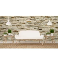 Fine Stone Wall Wall Mural 4-parts 368x254cm