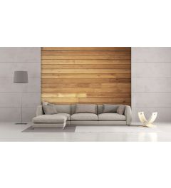 Cozy Wooden Wall Wall Mural 4-parts 368x254cm