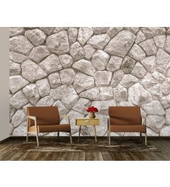 Large Stone Wall Wall Mural 4-parts 368x254cm