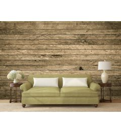 Demolition Wood Wall Mural 4-parts 368x254cm