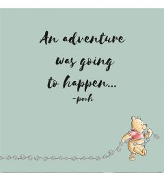 Winnie The Pooh An Adventure Was Going To Happen Art Print 40x40cm