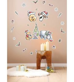 Winnie the Pooh Christmas Wall Sticker set