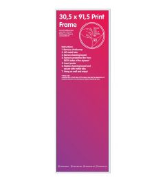 Frame 30,5x91,5cm White - Plastic