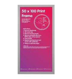 Frame 50x100cm Silver - MDF