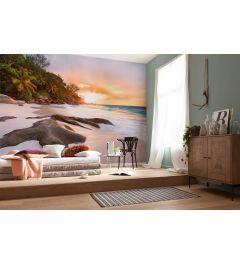 Beach Sunrise 4-part Non-Woven Wall Mural 368x248cm