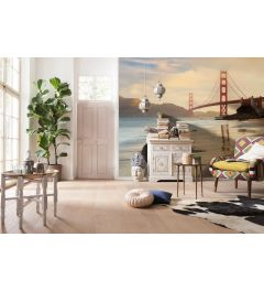Golden Gate Bridge San Francisco 4-part Non-Woven Wall Mural 368x248cm