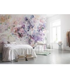 Flowers Modern 4-part Non-Woven Wall Mural 368x248cm