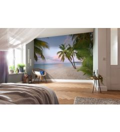 Paradise Morning 4-part Non-Woven Wall Mural 368x248cm