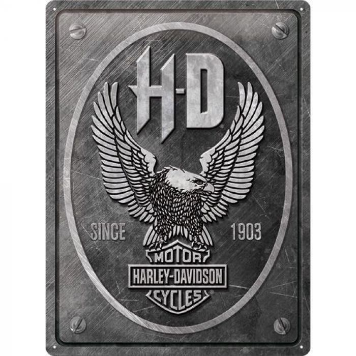 Harley Davidson Eagle metal wall sign